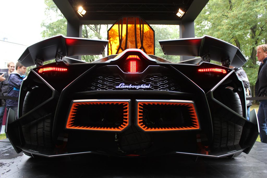 Intimidating Rear End Of The Lamborghini Concept Egoista. Itu0027s The  Batmobile!