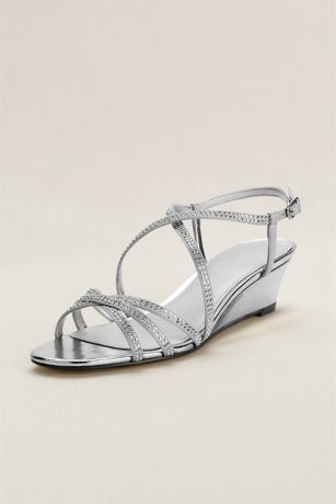the super strappy wedge is the perfect sandal for every occasion satin wedge sandal features