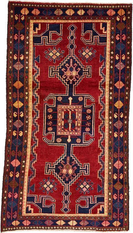 Red Hamedan Area Rug This Authentic Persian Hamedan Rug Is Hand Knotted In Iran Of 100 Natural Wool And Has 150 Knots Per Square I Rugs Persian Rug Persian