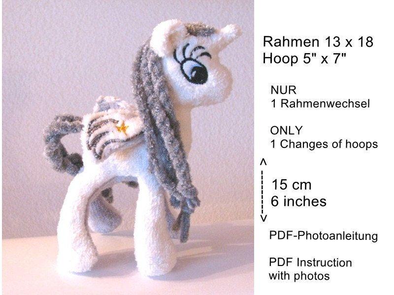 Ith Stickdatei Einhorn Unicorn Licorn Stofftier Maschinenstickerei Stuffie Ith In The Hoop Maschinenstickerei Sticken Stofftiere