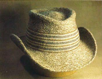 crochet cowboy hat - 1970s crochet
