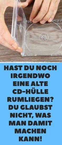 Hast du noch irgendwo eine alte CD-Hülle rumliegen? Du glaubst nicht, was man d… #recycledcd
