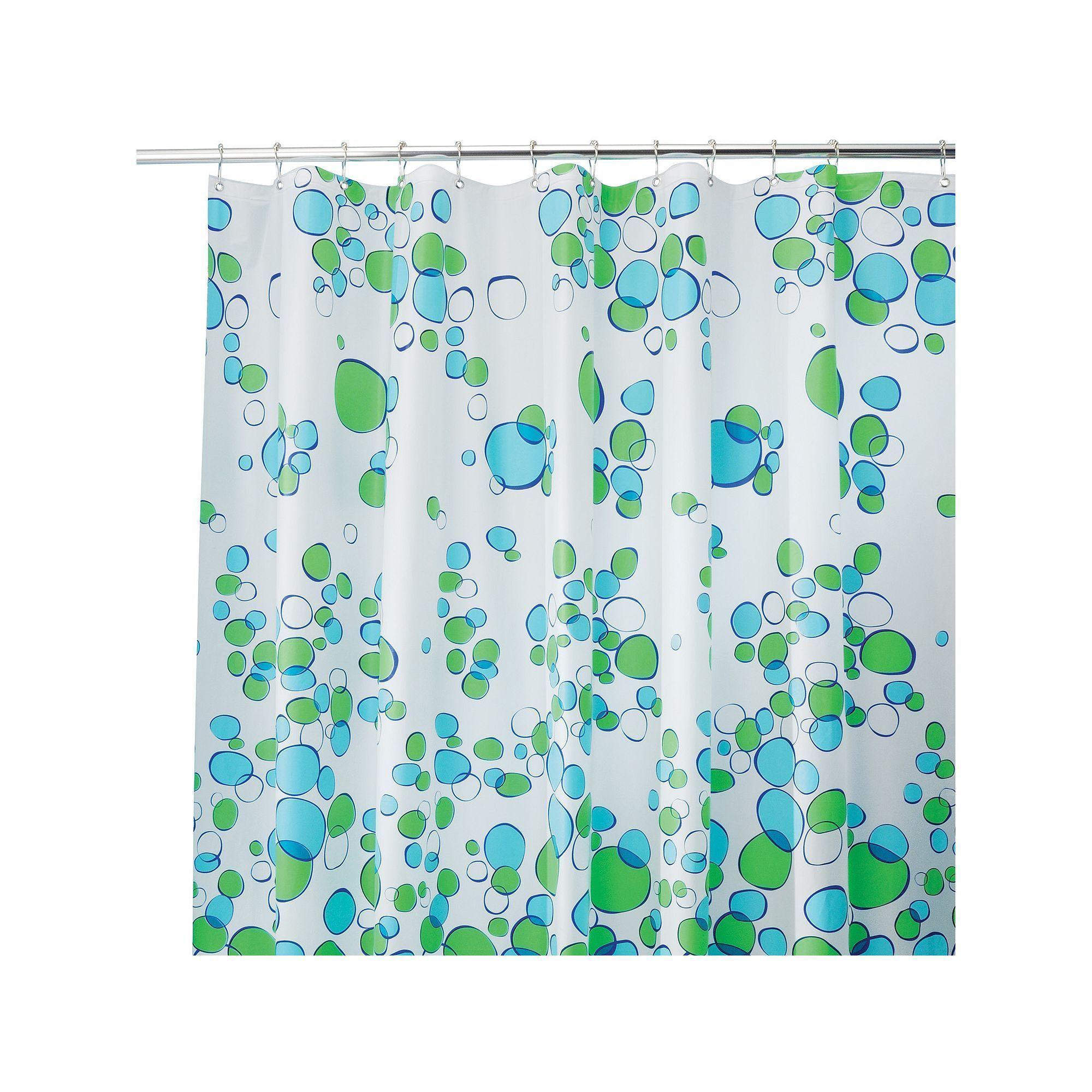 Bubblz Peva Shower Curtain Blue Blue Shower Curtains Green
