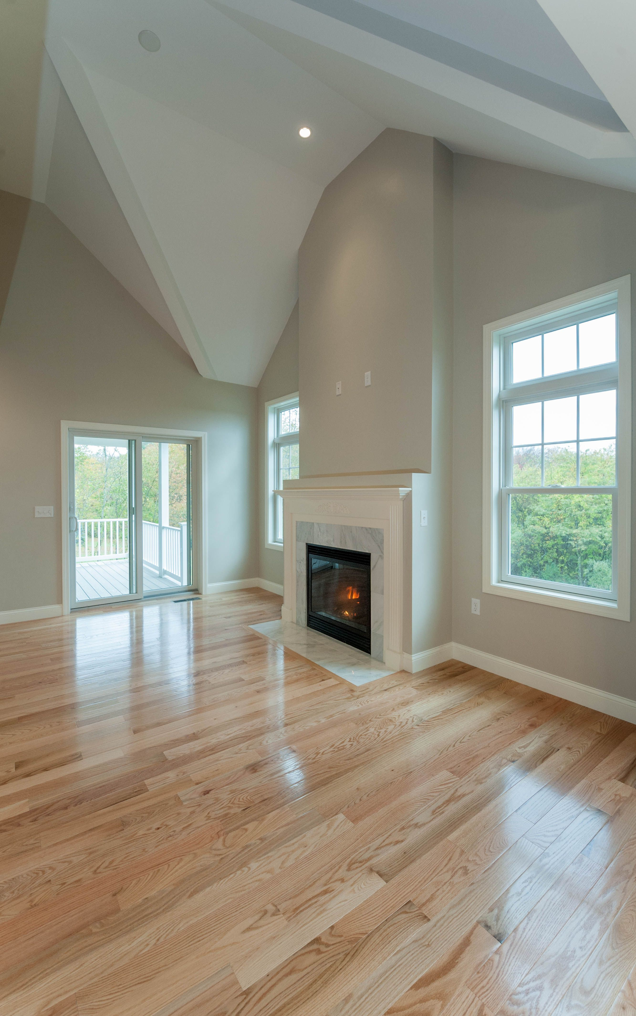 One Level Living At It S Finest Living Room Wood Floor Blonde