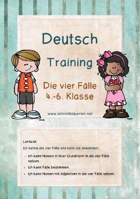 Lernzieltraining Deutsch: Die vier Fälle | Deutsch, Schule und ...