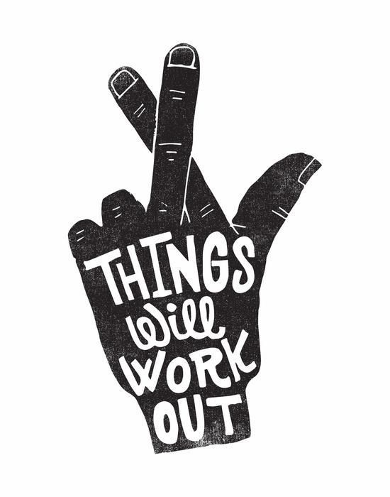 THINGS WILL WORK OUT By Matthew Taylor Wilson Inspirational Quote Word Art  Print Motivational Poster Black White Motivationmonday Minimalist Shabby  Chic ...