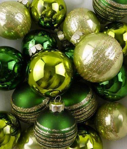 Christbaumkugeln Hersteller.Weihnachtskugeln Green Mix Von Glass Balls Bild 4
