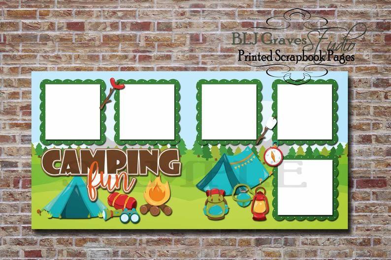 Camping Fun, Summer Camp, Boy, Girl - 2 Premade PR