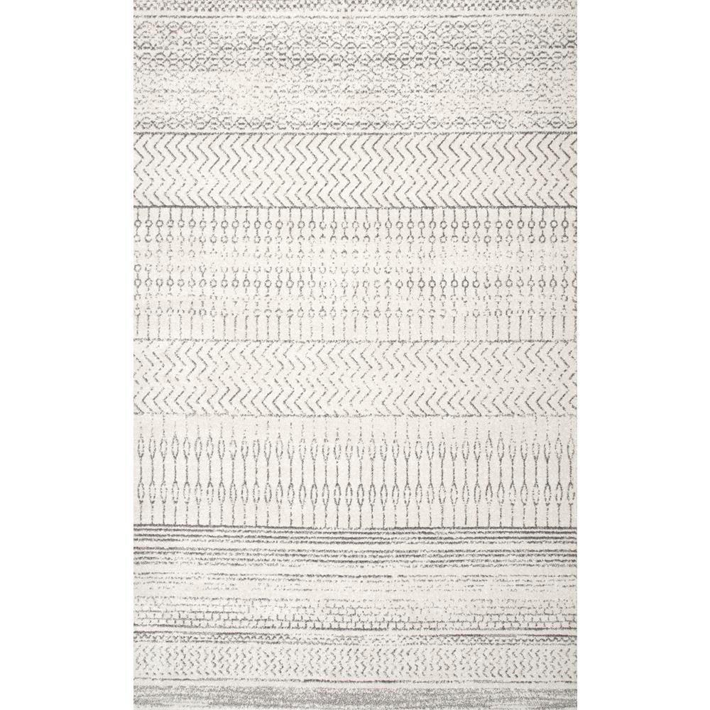 Nuloom Nova Stripes Grey 8 Ft X 10 Ft Area Rug Gray Area Rugs
