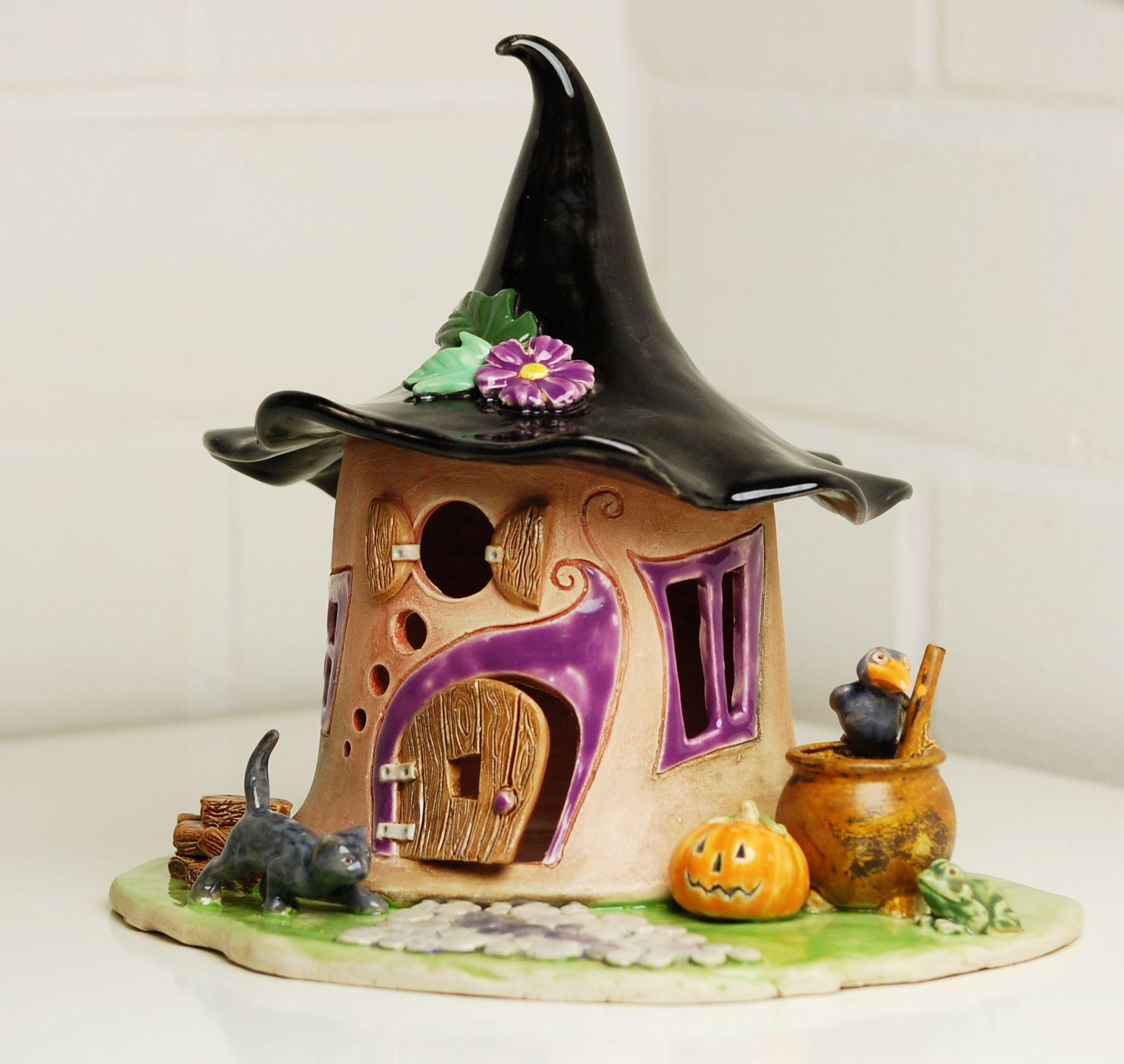 gro es elfenhaus windlicht f r halloween honiglicht. Black Bedroom Furniture Sets. Home Design Ideas