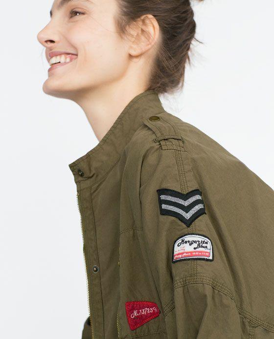 Imagen 6 de PARKA PARCHES de Zara | Parches chaqueta