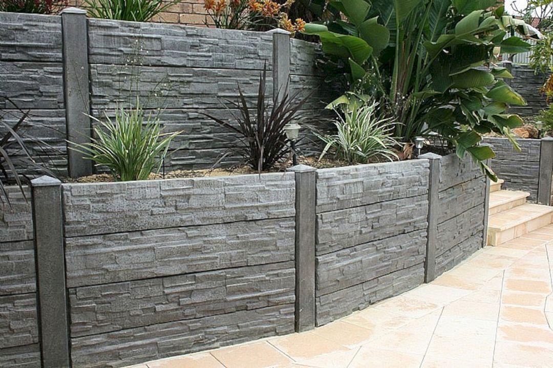 25 Best Concrete Retaining Wall Inspiration To Make Your Backyard Awesome Freshouz Com Backyard Retaining Walls Landscaping Retaining Walls Concrete Retaining Walls