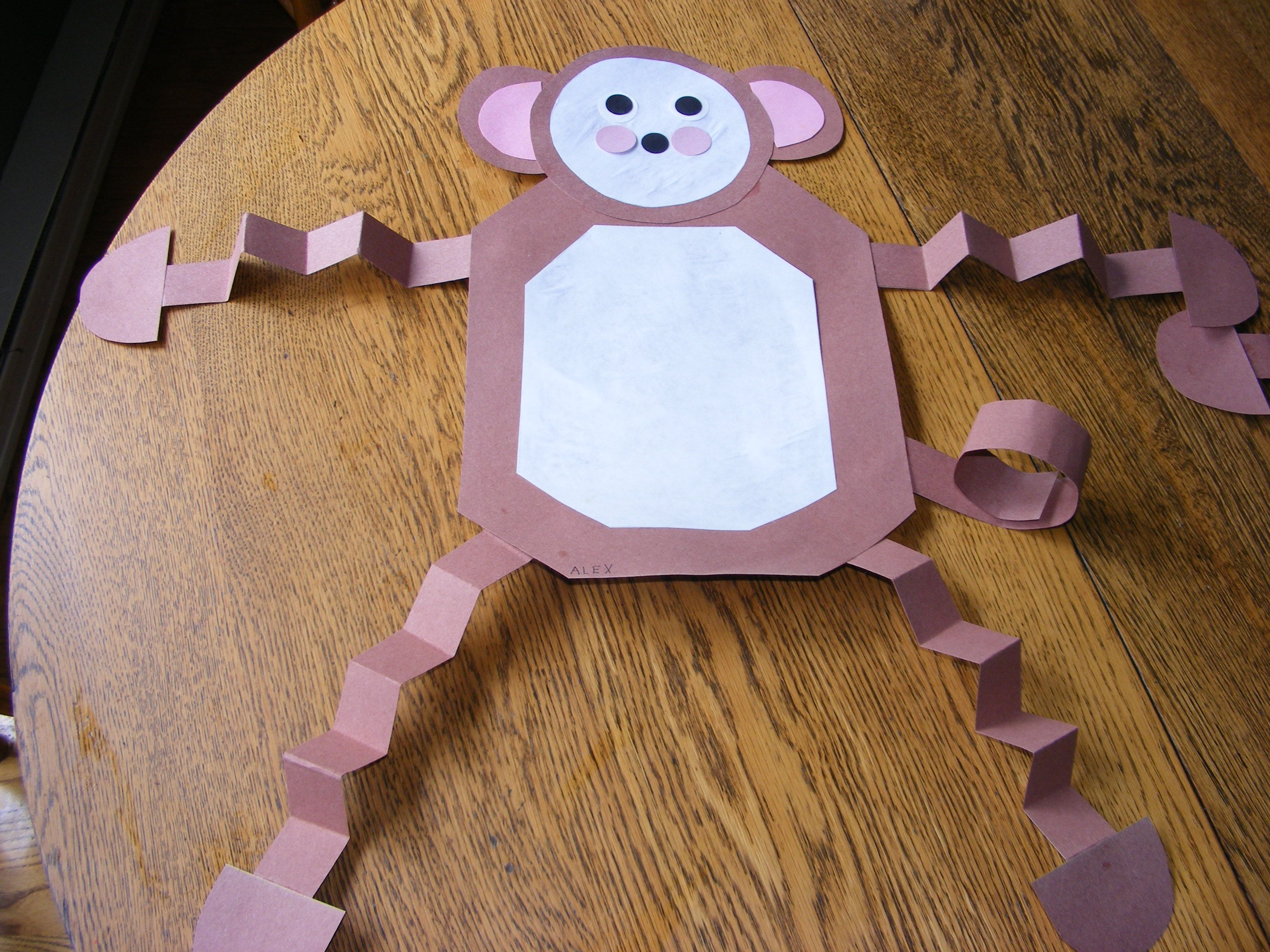 M Is For Monkey Made Out Of Paper Shapes