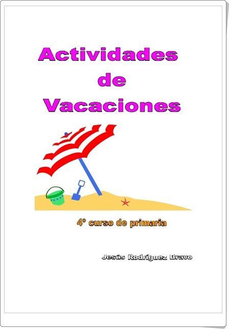 Cuaderno de actividades de vacaciones de Lengua de 4º de Primaria ...