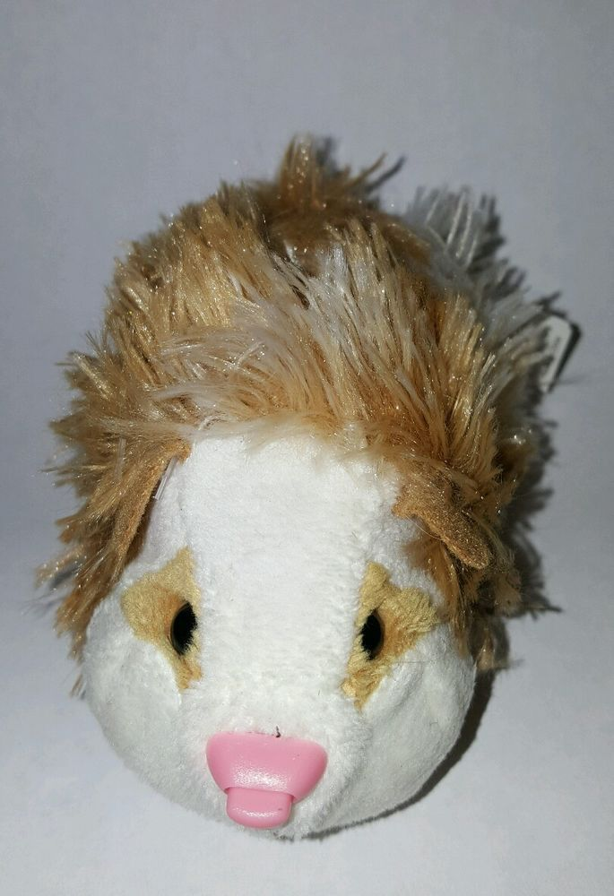 Zhu Zhu Pet Hamster Zuzu Golden Brown Fluffy With Name Tag Tested And Working Pets Hamster Fluffy
