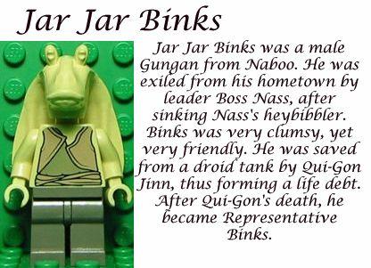 Jar Jar Binks Lego Star Wars Star Wars Lego Sets