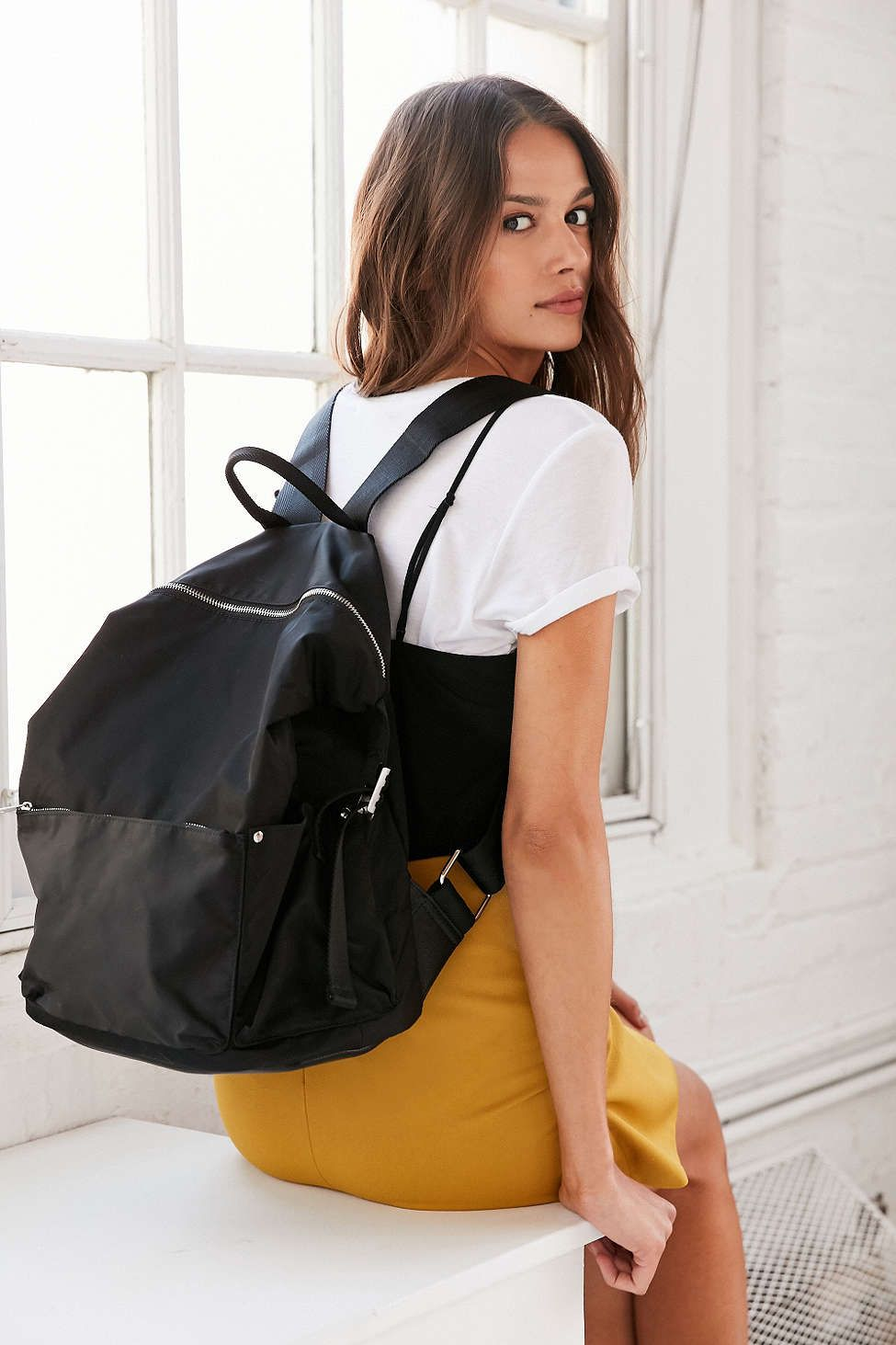 c39f279445d Silence + Noise Nylon Backpack - Urban Outfitters