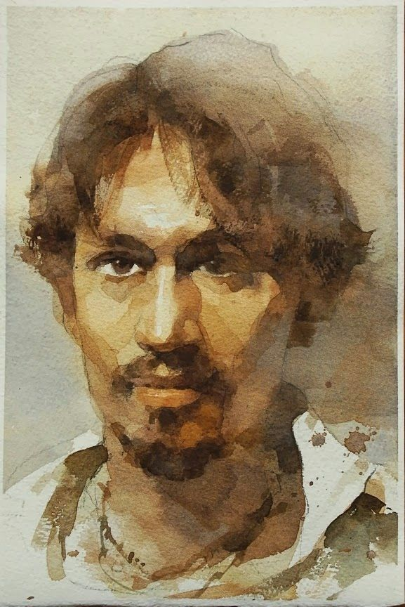 Mann Portrait Aquarell