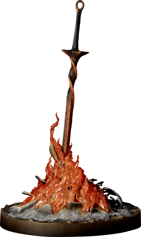 Dark Souls Bonfire Light Up Statue By Gecco Co Sideshow Collectibles Dark Souls Statue Dark Souls Dark Souls Art