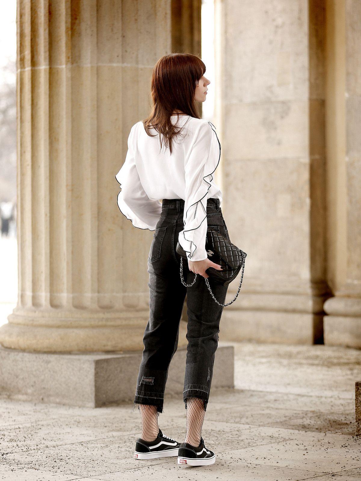 vans jeans bluse