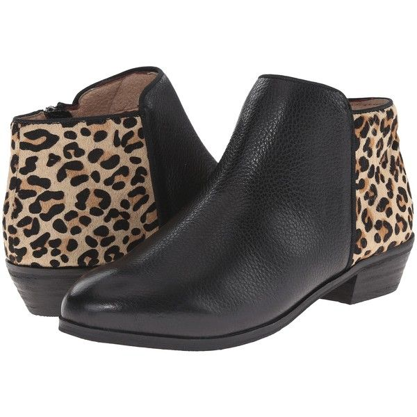 cdf0da1e187348 SoftWalk Rocklin (Black Tan Soft Tumbled Leather Leopard) Women s... (€54)  ❤ liked on Polyvore featuring shoes