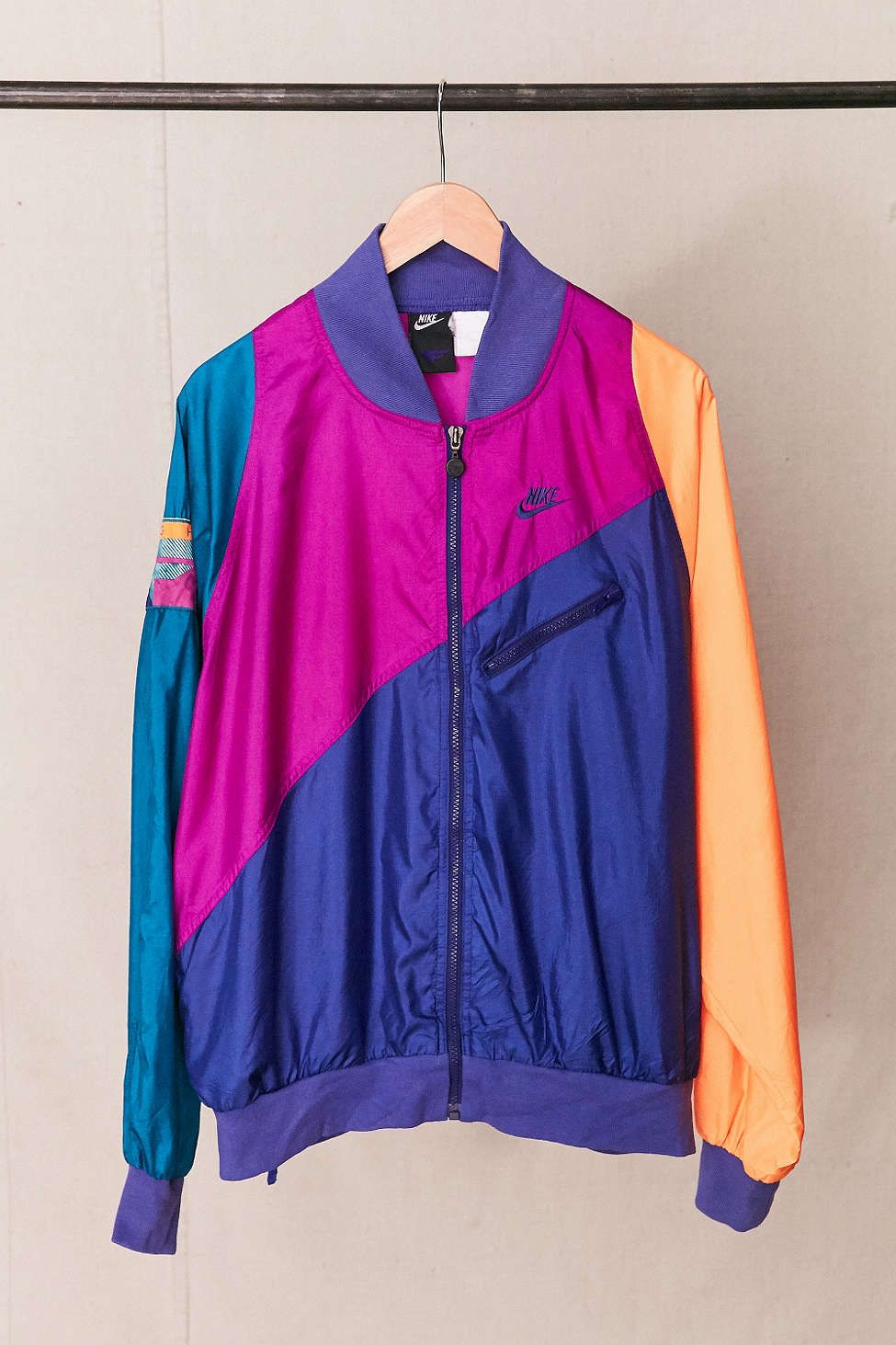 62ee77a856 Vintage Nike Neon Flight Windbreaker Jacket