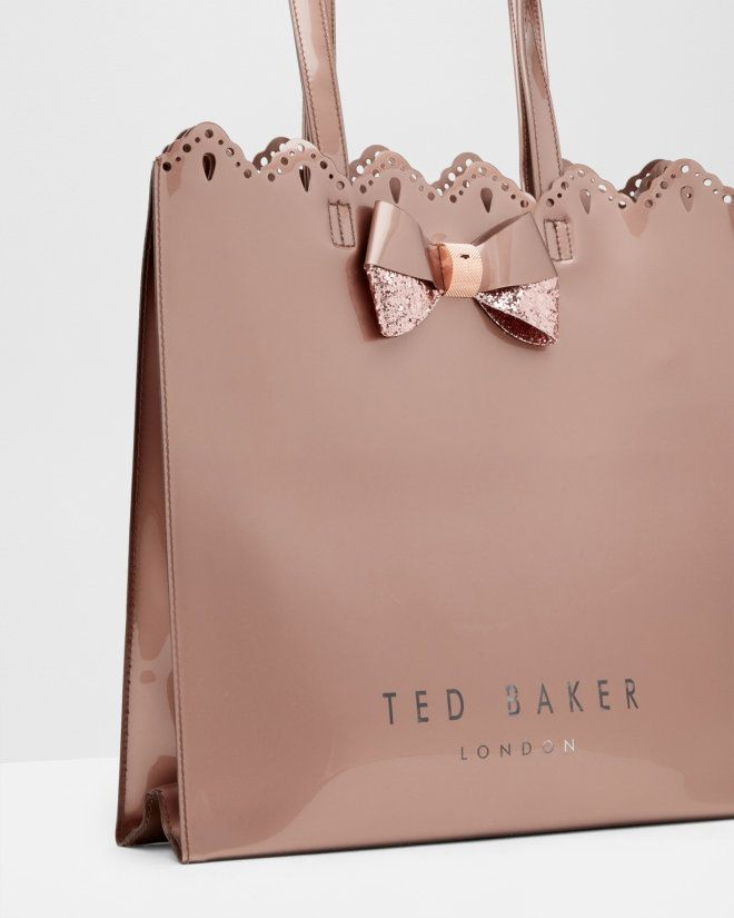 8fc97e692b52 Belacon scalloped edge shopper bag - Rose Gold