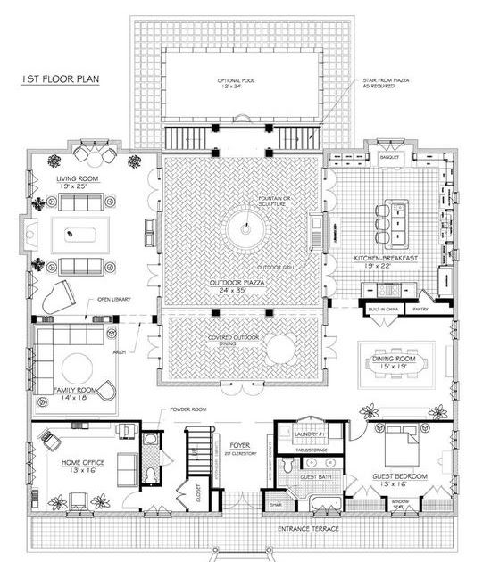 Mas French House Plan Click Here To Download French House Plans House Floor Plans Villa Plan