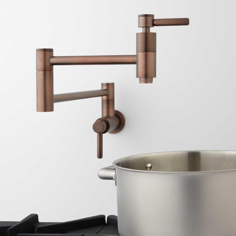 Brushed Nickel With Images Pot Filler Faucet Pot Filler Modern Pot Fillers