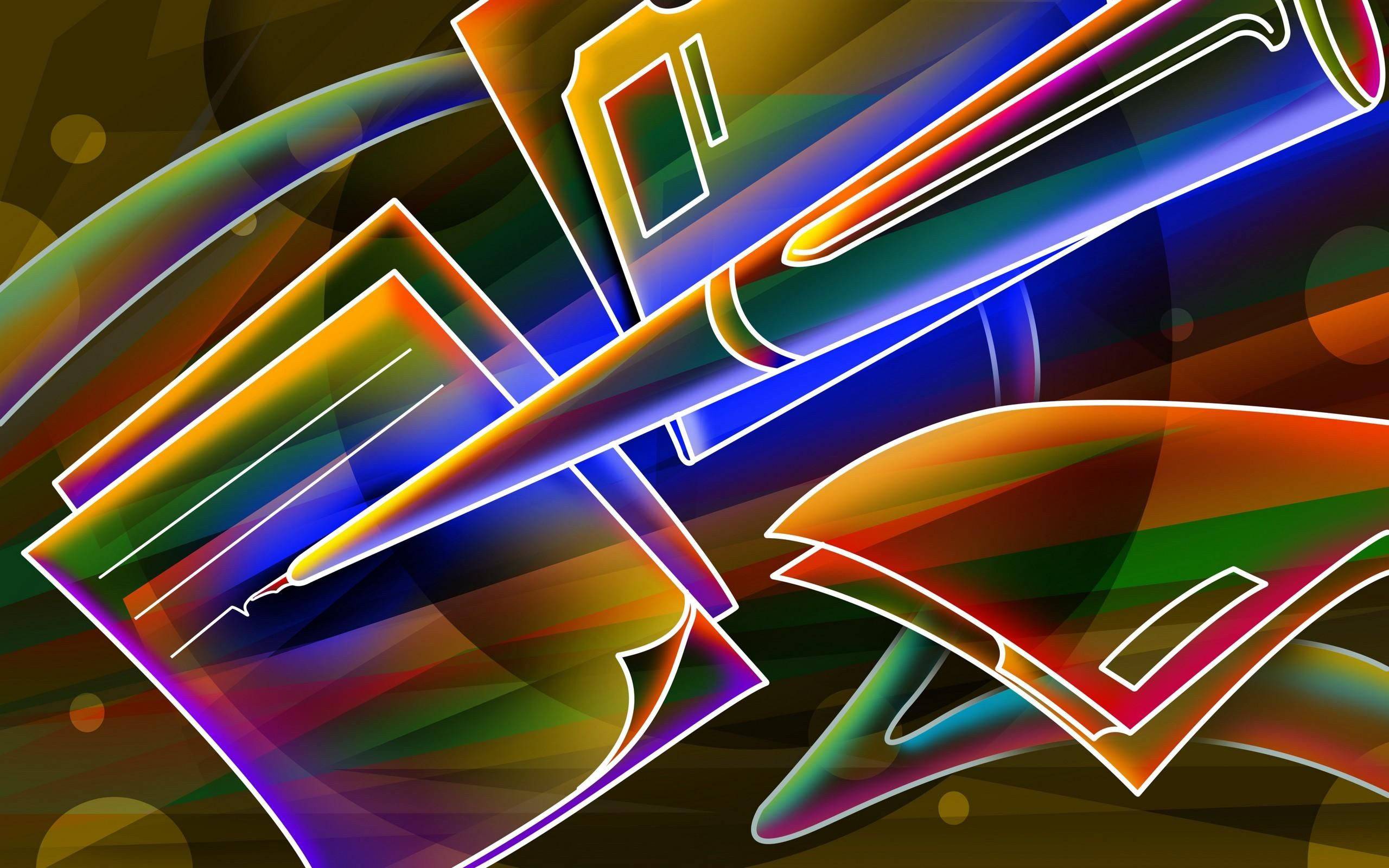 2560x1600 3d Neon Colorful Wallpaper Free Wallpapers Download
