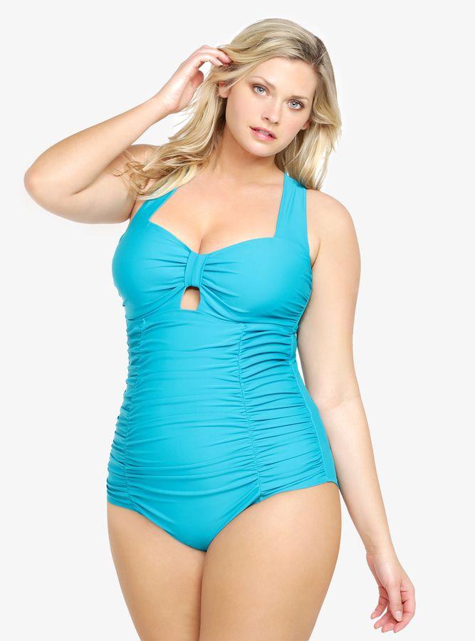 2a20fa1aecf Torrid Peekaboo One-Piece Swimsuit. Torrid Peekaboo One-Piece Swimsuit  Women s Plus Size ...