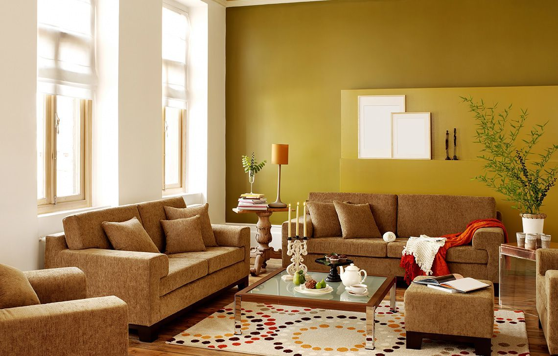 Wall Colour Combination For Yellow Living Room Yellow Living