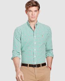 Camisa de hombre Polo Ralph Lauren de cuadros verde  c42cfe751fa78
