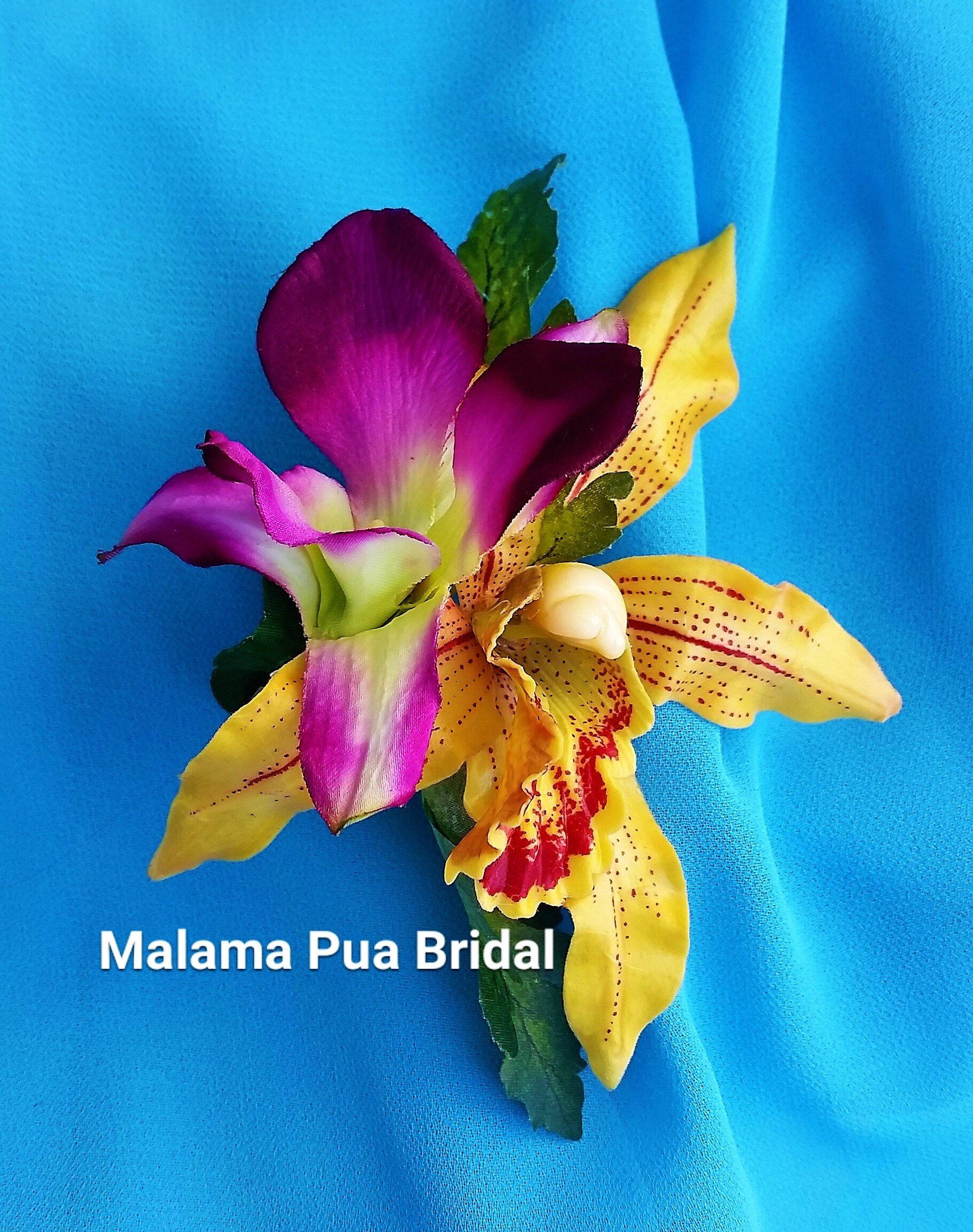 Tropical Hair Flowers Silk Flowers Hair Clip Wedding Flowers