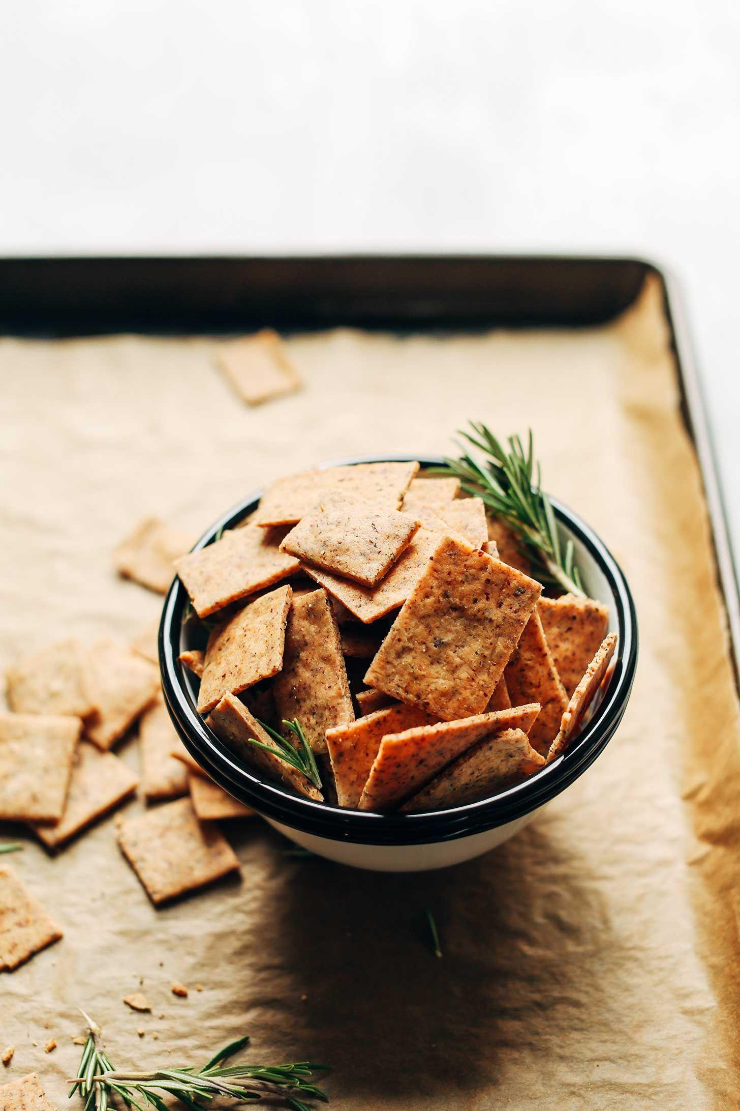 1 Bowl Vegan Gluten Free Crackers Recipe Vegan Gluten Free