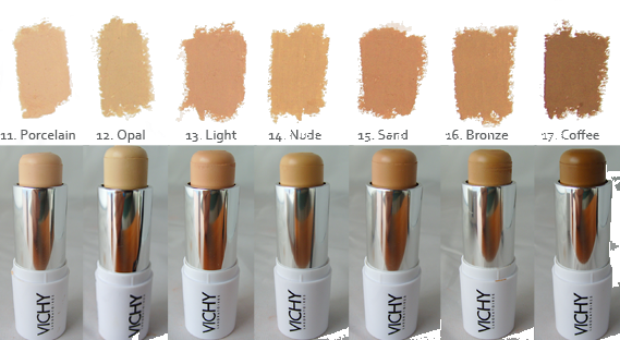 Swatches Of The Vichy Dermablend Ultra Corrective Cream Stick Frenchpharmacy Rosacea Makeup Best Makeup For Rosacea Rosacea Skin Care
