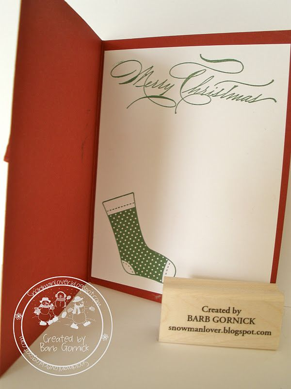 Snowmanlover's Paperie~Stampin' Up! Demonstrator: Stampin' Up! Stiched Stocking Card~Sale~Give Away!