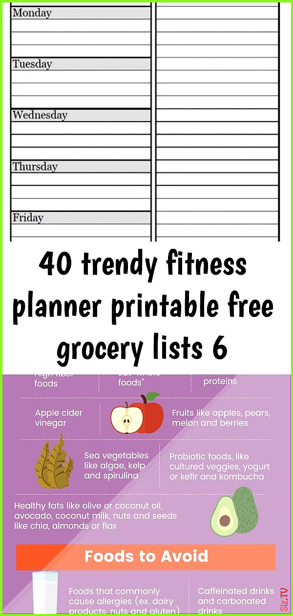 40 trendy fitness planner printable free grocery lists 6 40 trendy fitness planner printable free gr...