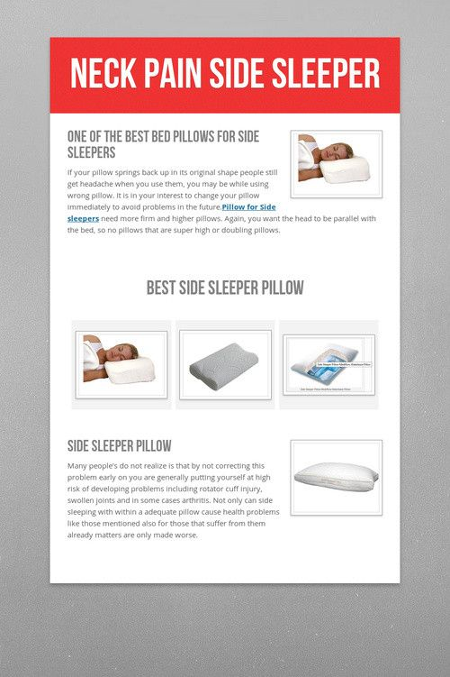 Neck Pain Side Sleeper Pillows For Side Sleepers