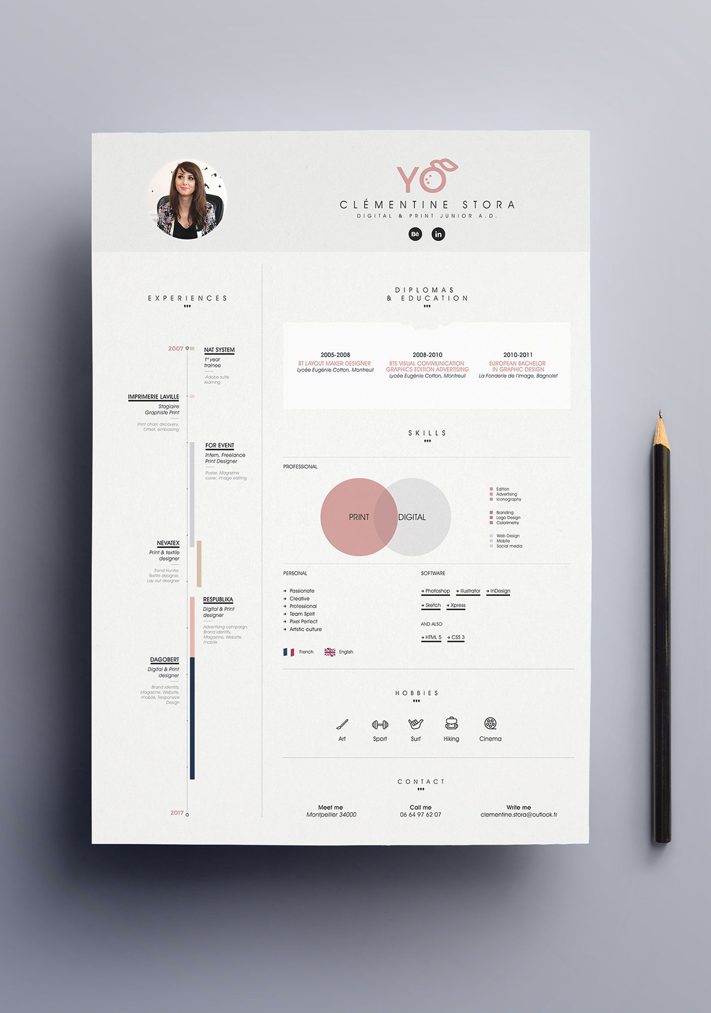 Layout For Resume Amusing Création De Mon Curriculum Vitæmore  Resumes  Pinterest .