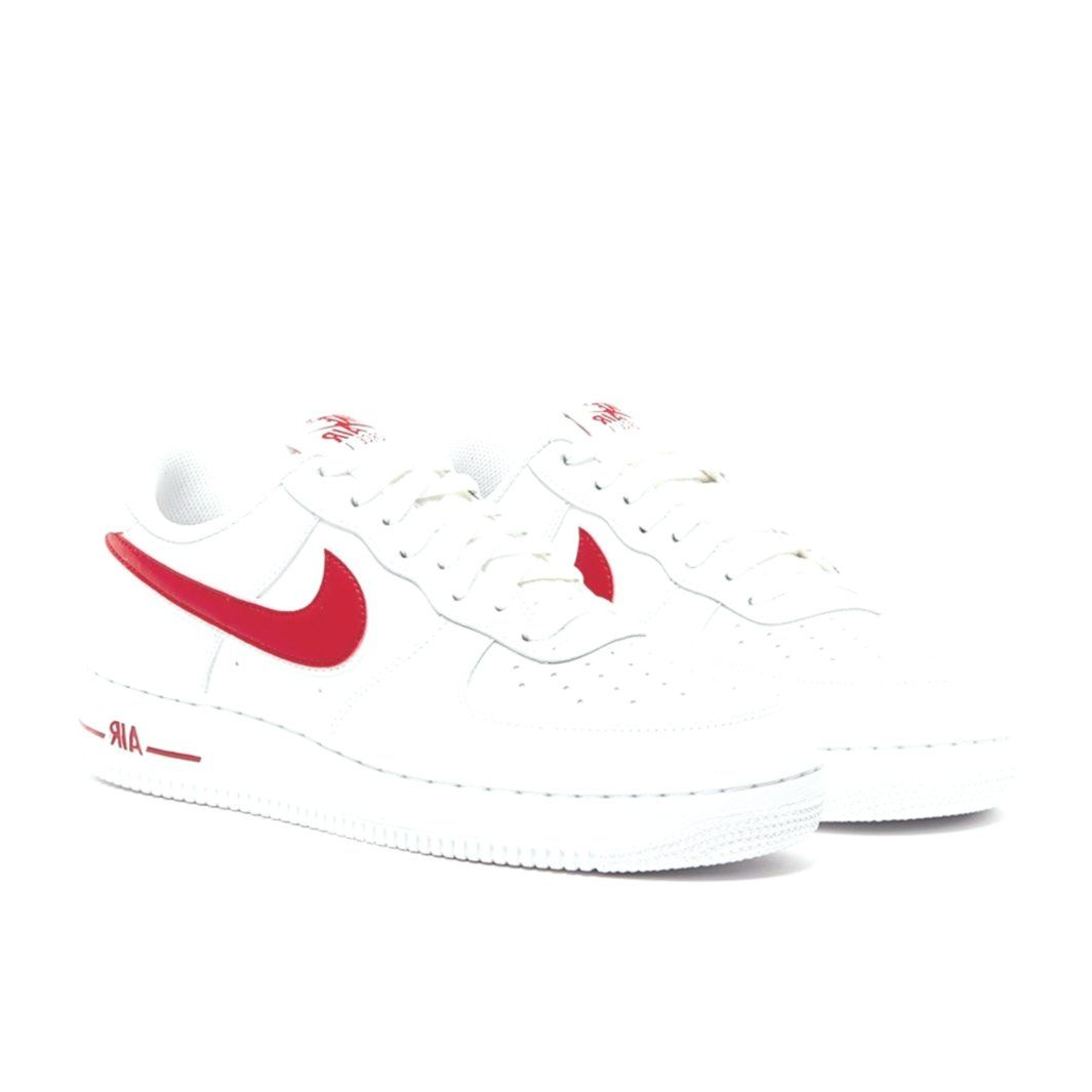 Mens Shoes Nike Air Force 1 07 3 White Red Basketball