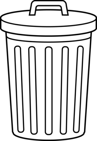 trash can bin garbage clipart black and rh pinterest com trash clip art pictures trash black and white clipart