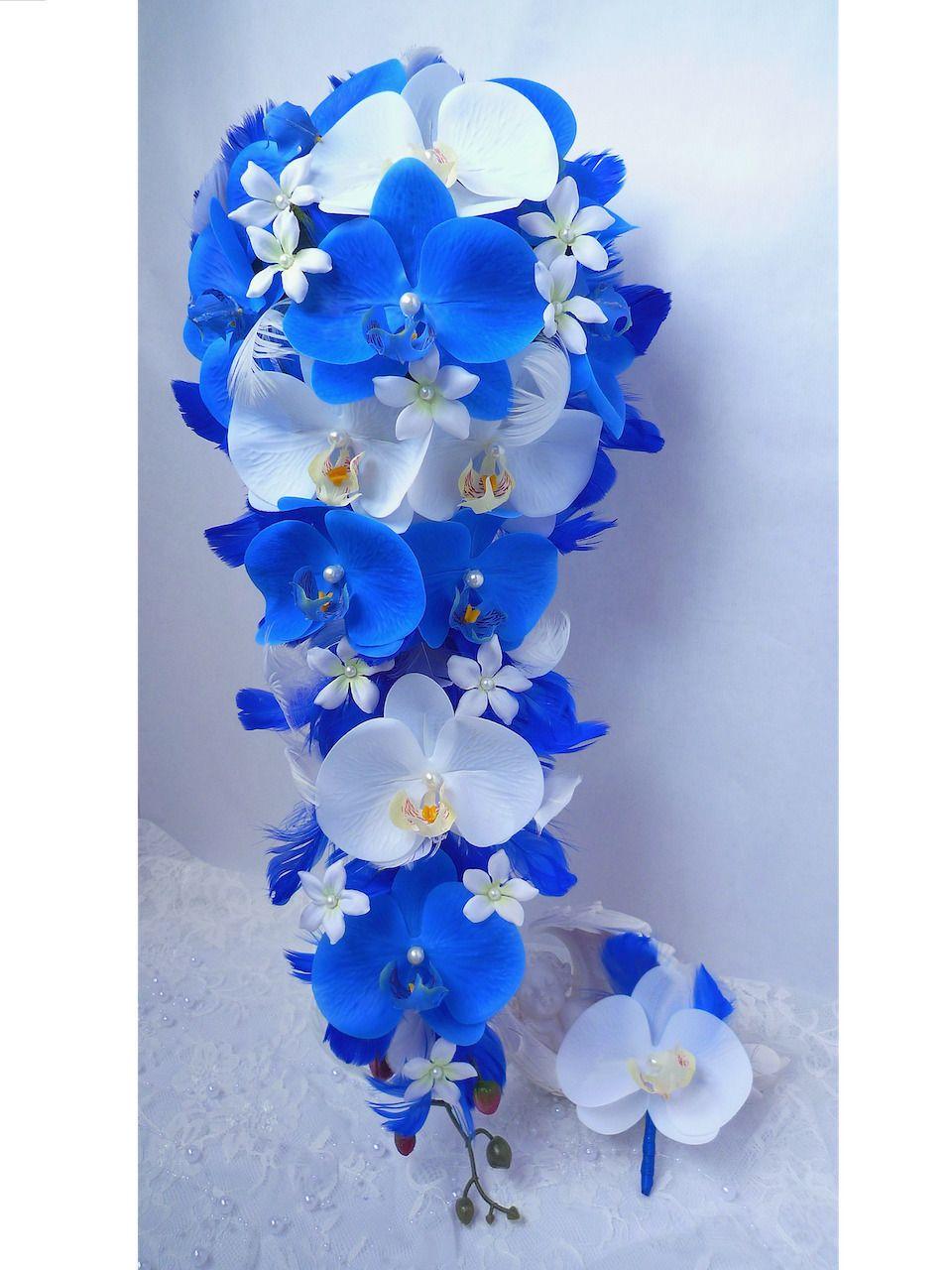 orchidee bleue artificielle