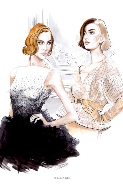 shu84: Lena Ker Fashion Illustrations