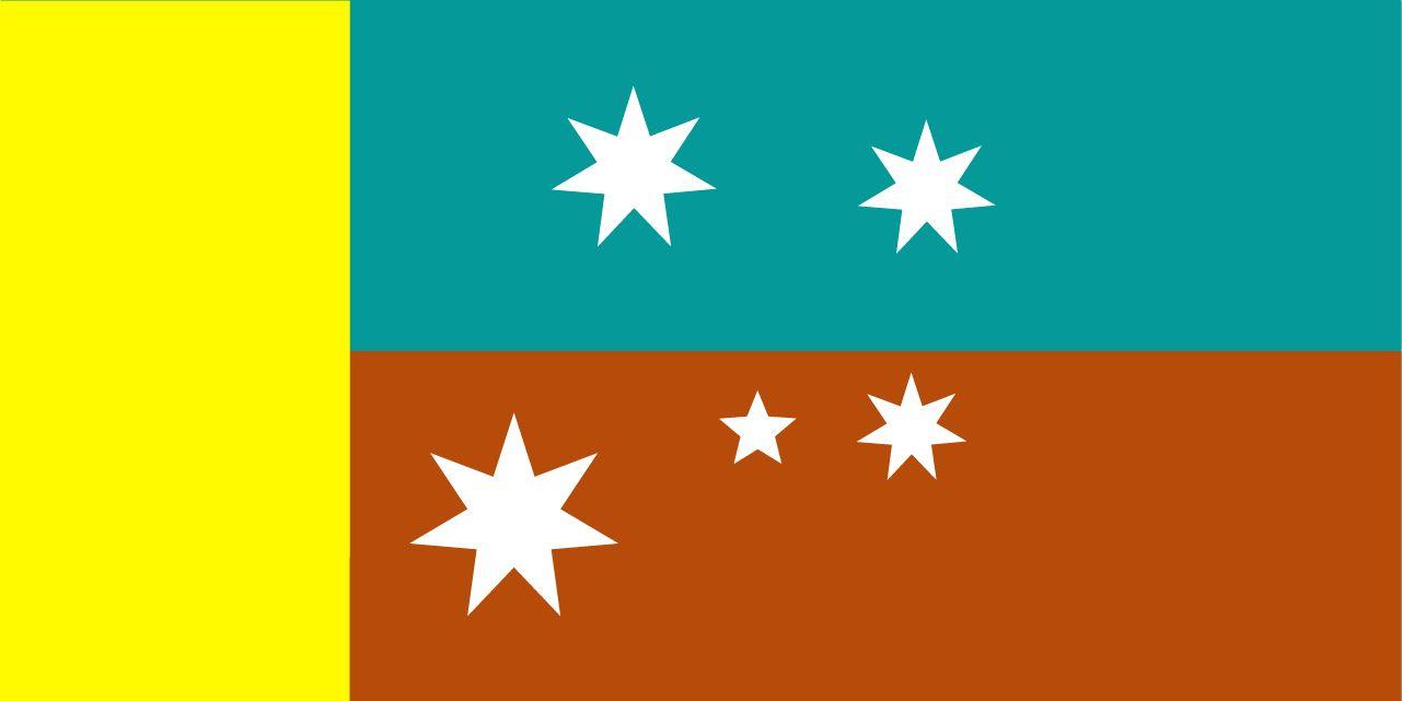 New Australian Flag design proposal UluruSky Block Gold Hoist SC-CS5 ...