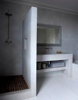 25 idees ides dco deco pour une salle jolie salle salle de bain bton salle de bain beton cire peinture salle de bain salle bain parquet - Beton Cire Salle De Bain Carrelage