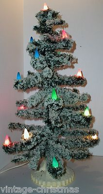 1955 noma 17 lite c 6 snow flocked bubble light tree