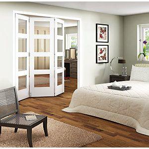 Wickes Ashton Internal Folding Door White Glazed 4 Lite 3 Door ...