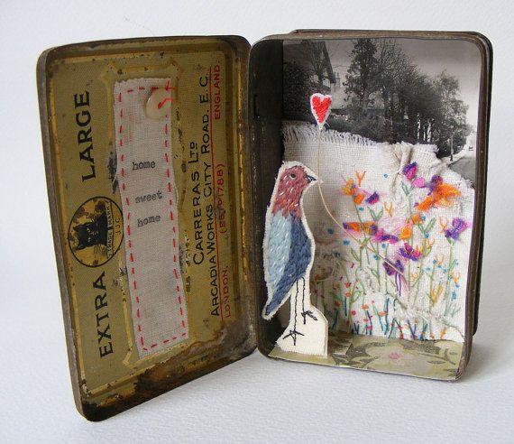 Assemblage :: mixed media tin