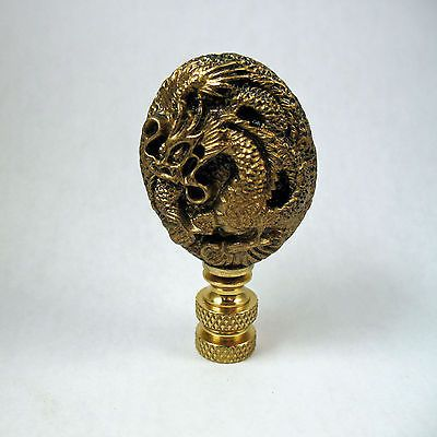 Solid Brass finial knob lamp topper